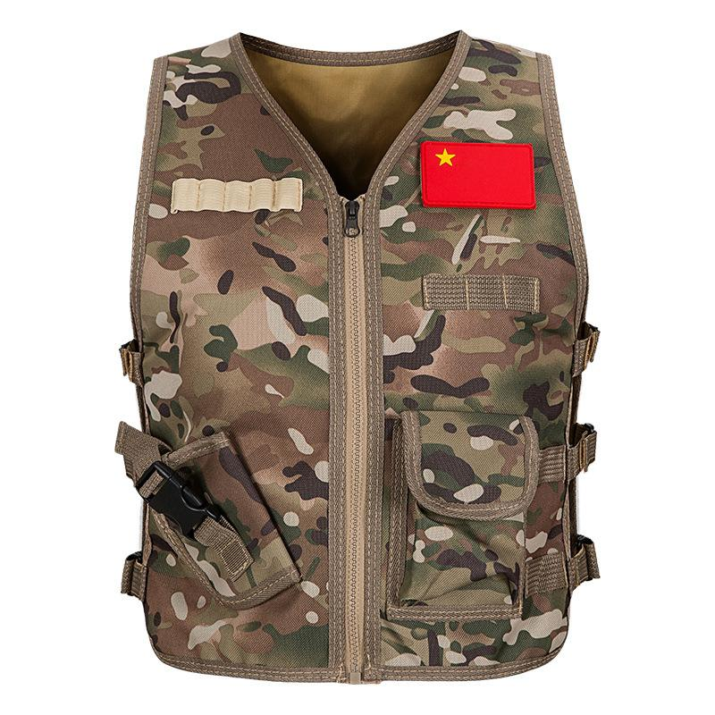 Armée réglable Outdoor Kids Gilet tactique enfants Gilet Veste Vêtements Combat