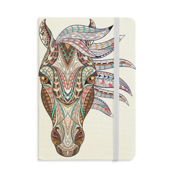 Mosaïque style coloré cheval design ordinateur portable Tissu Couverture souple classique Journal A5 Journal