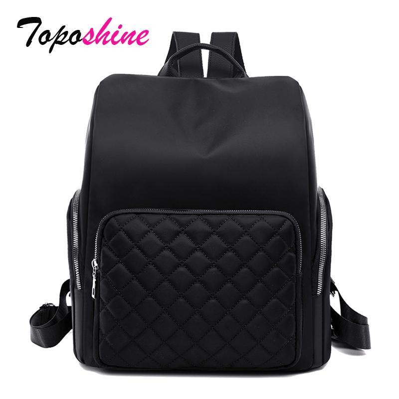 Toposhine Большой книги Сумка для девочек Оксфорд школьная сумка вышивка нити рюкзак качество гарантировано женщины рюкзак
