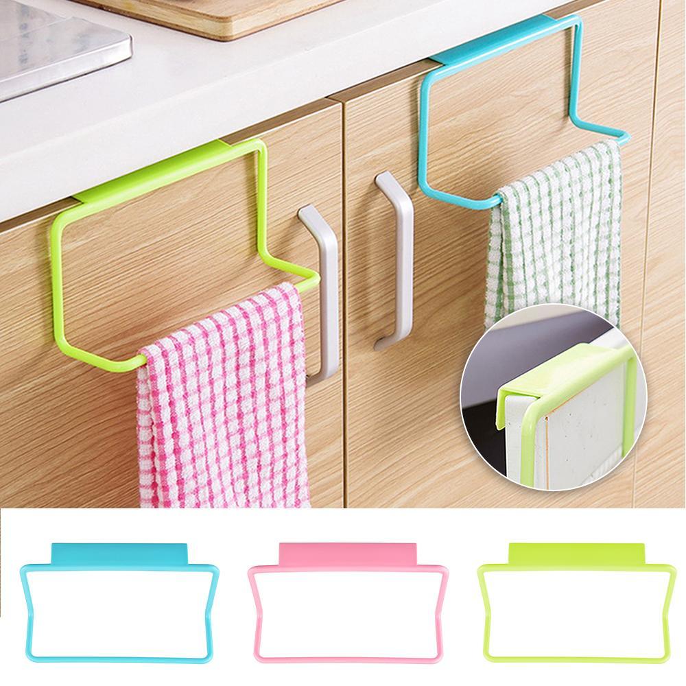 Kitchen Cupboard Towel Rack Hanging Holder Organizer Bathroom Cabinet Hanger New