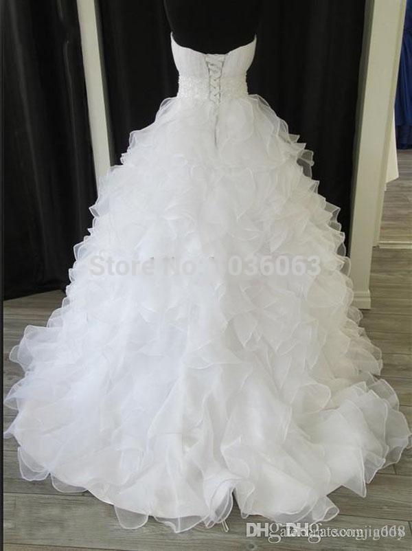 Autual Images Casamento Wedding Dress Sequined Sweetheart Lace Up Bridal Dresses Gown Long Vestido De Noiva