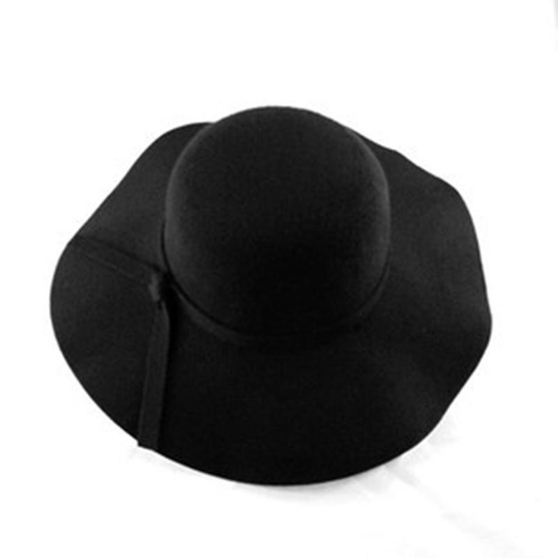 Autumn Winter Wool Sun Hat Women Men Fedora Hat Classical Wide Brim Felt Floppy Wool/% Solid Color Cap Hats