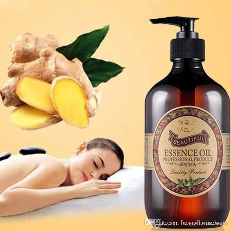 500ml Zenzero Olio Essenziale corpo massaggio termica Ginger Olio Corpo Relax termica olio essenziale della raschiatura terapia termale Oli Essenziali BH2327 TQQ