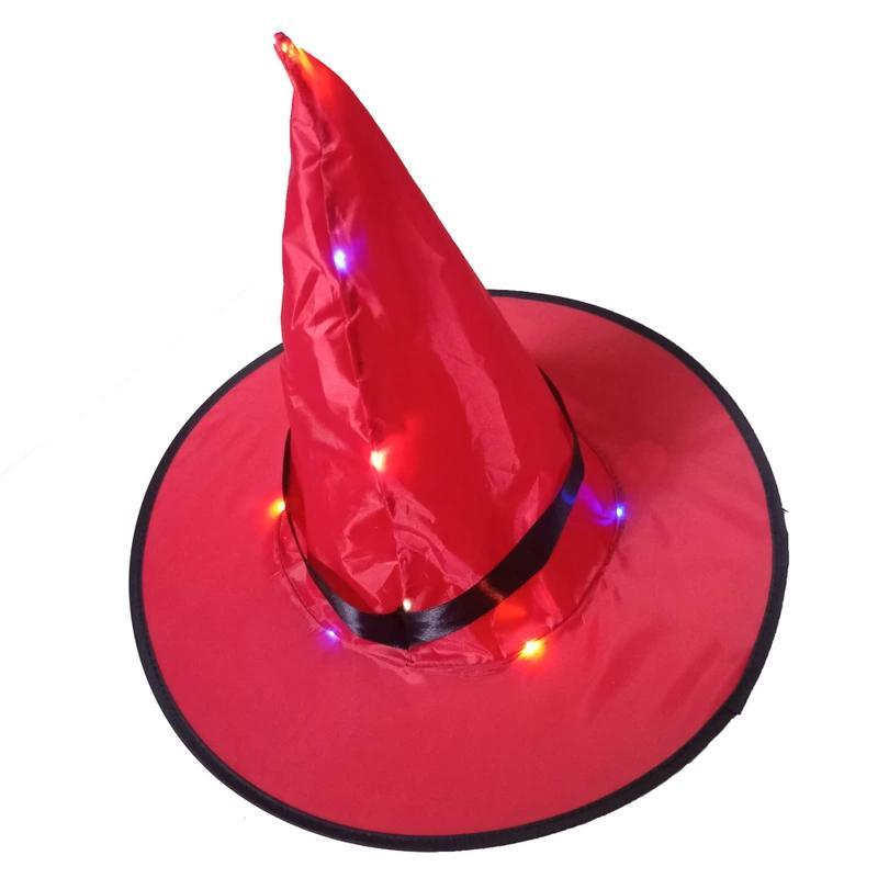 Cadı Şapka Asılı Işıklı Parlayan Işıkları Dize Cadılar Bayramı Dekorasyon Açık Batarya Açık Yard Ağacı için Kumandalı, Süslemeleri