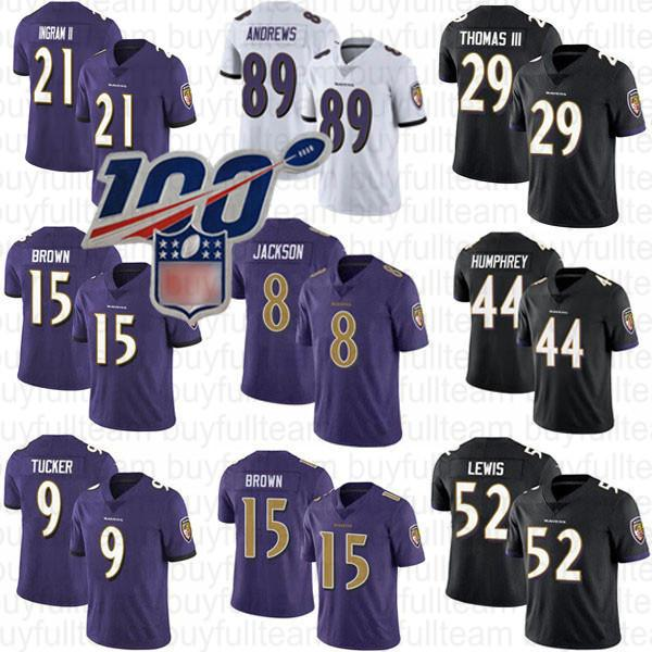 8 Lamar Jackson 15 Marquise Brown Baltimores Raven 52 Ray Lewis 21 Mark Ingram II Marlon 44 Humphrey 89 Mark Andrews 9 Justin Tucker Trikots