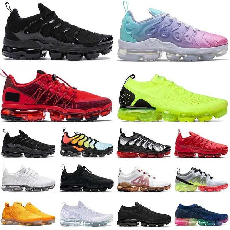 NIKE AIR VAPORMAX PLUS TN BIG SIZE US 13 stock x off white أحذية في الهواء الطلق عالية الجودة رجالي مصمم أحذية رياضية المرأة باستيل متسابق الجري سرعة المدربين