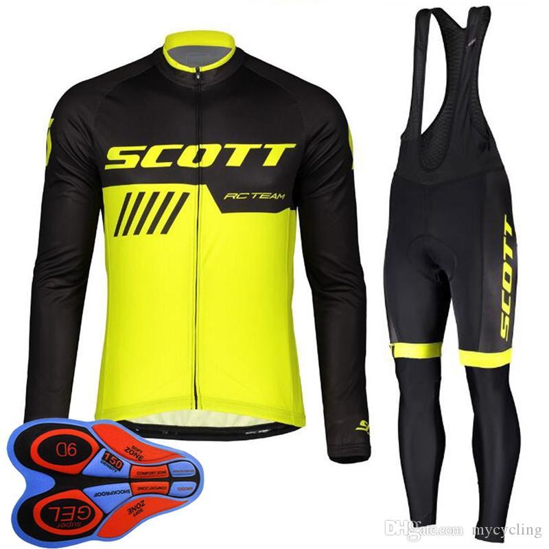 New Men Cycling Outfits Jersey Long Pants Kits Bike Racing Jackets Trousers Set