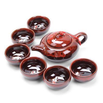 2020 new 7 pieces/set Kung fu tea set Ceramic Tea cup chinese travel set Coffee cups tea 6 colors