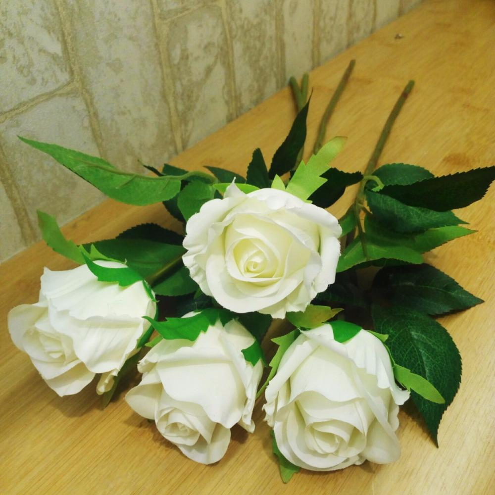 Supplies  Branch  Party Artificial Rose Flowers Decorative  Flowers Wedding