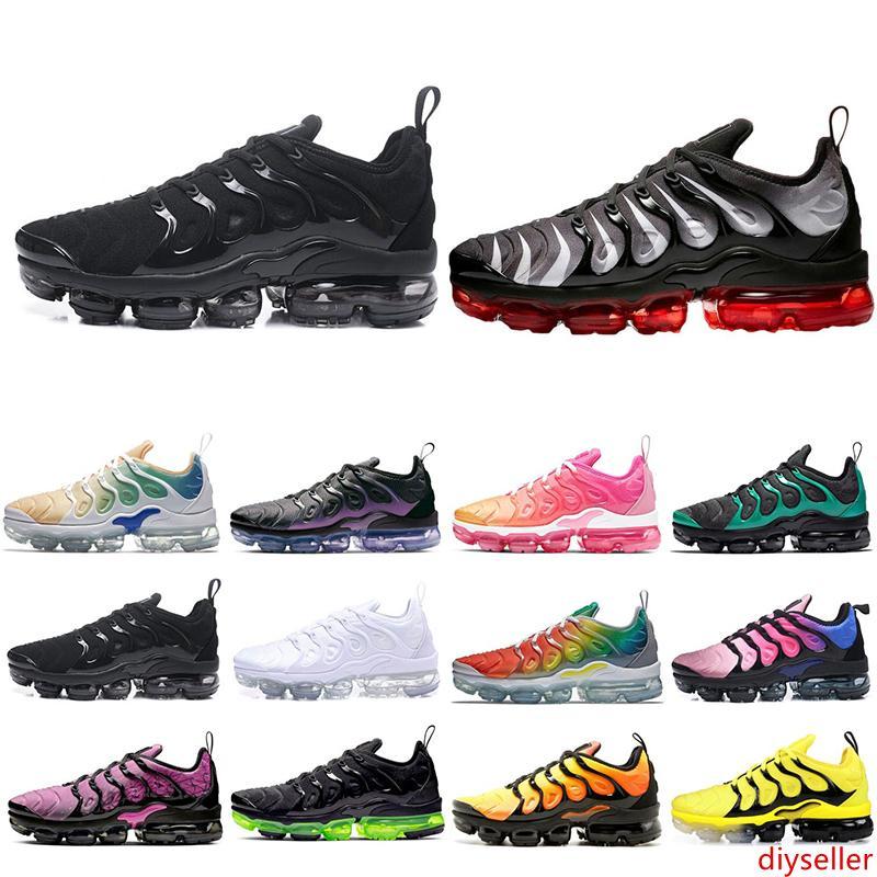 2020 горячая распродажа ТН плюс тройной черный белый мужской женщин кроссовки белые красные орлы гипер фиолетовый мужские кроссовки дизайнер спортивные кроссовки 36-45
