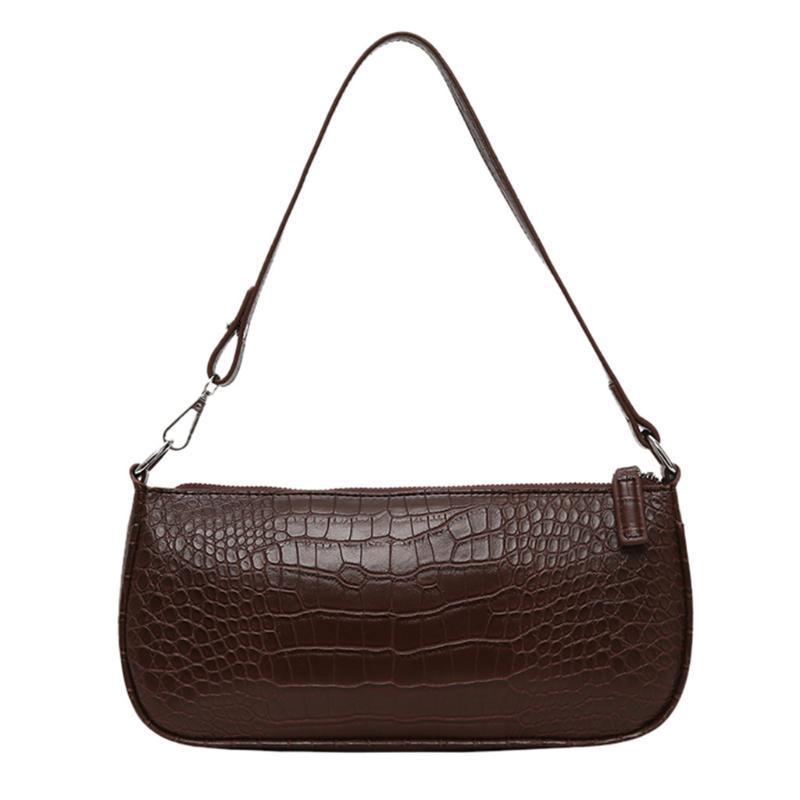 Alligator Motif Sacs à main en cuir PU Femmes Messenger Bag Sacs à glissière solide de Crossbody Rétro Sac à bandoulière Bolsa Mujer @ C10