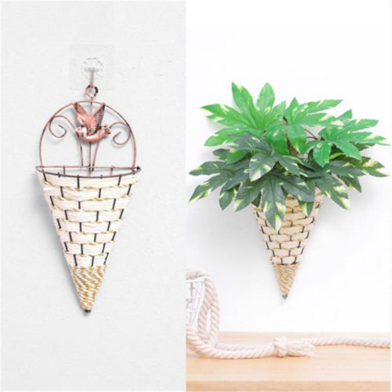 2019 New Creative Design Home Art Flower Pots Wall Hanging Green Plant Wall Conical Shape Hanging Planter Pot Flower Holder Ornament
