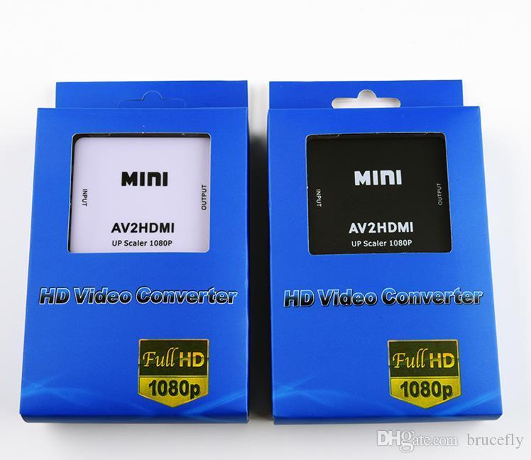 RCA AV لتحويل HDMI عالية الجودة HD 1080P AV2HDMI محول للتلفزيون PS3 PS4 PC DVD إكس بوكس العارض AV لتحويل HDMI
