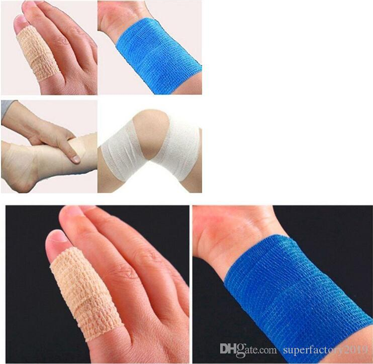 2020 Sports Protection Elastic Bandage Color Self Adhesive Bandage Muscle Tape Finger Joints Wrap First Aid Kit From