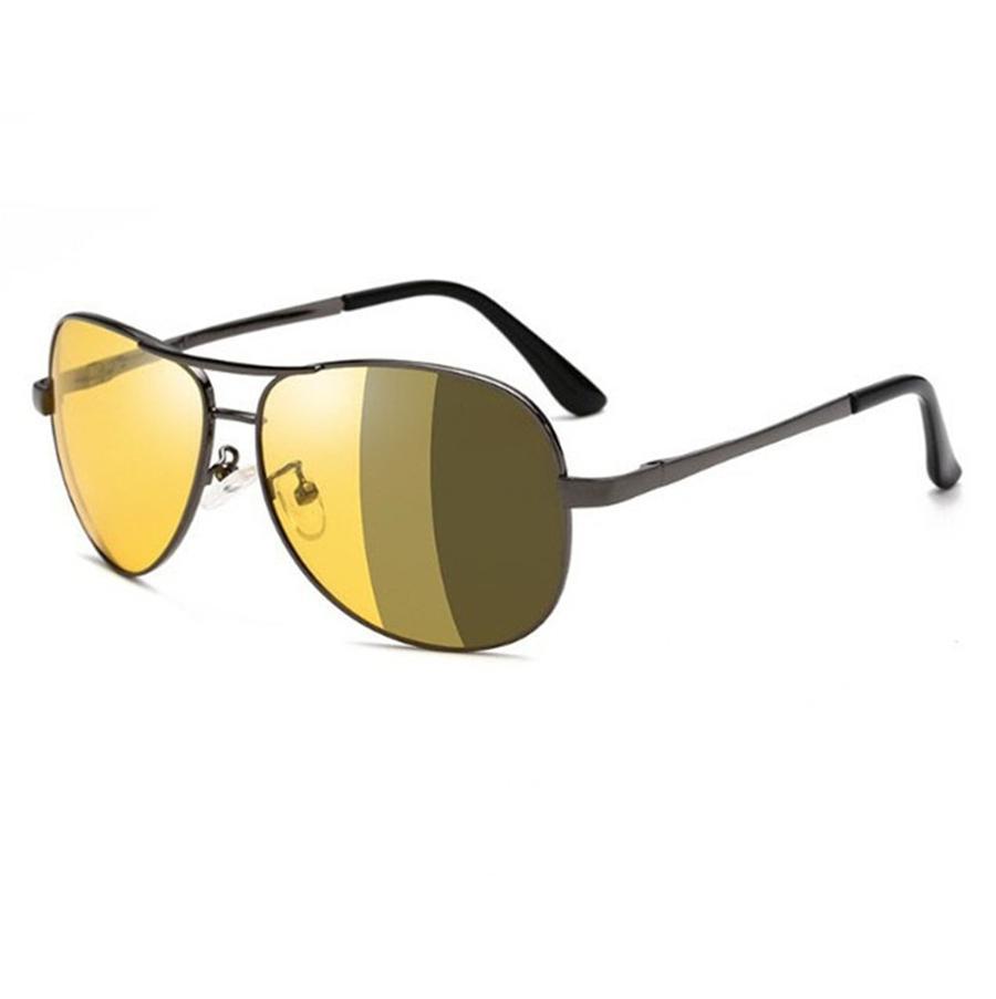 Высокое качество Мода Круглые очки женщин людей Солнцезащитные очки Gold Metal Yxvaxl Черный Темно-50мм Стеклянные линзы лучше Black Box # 44653