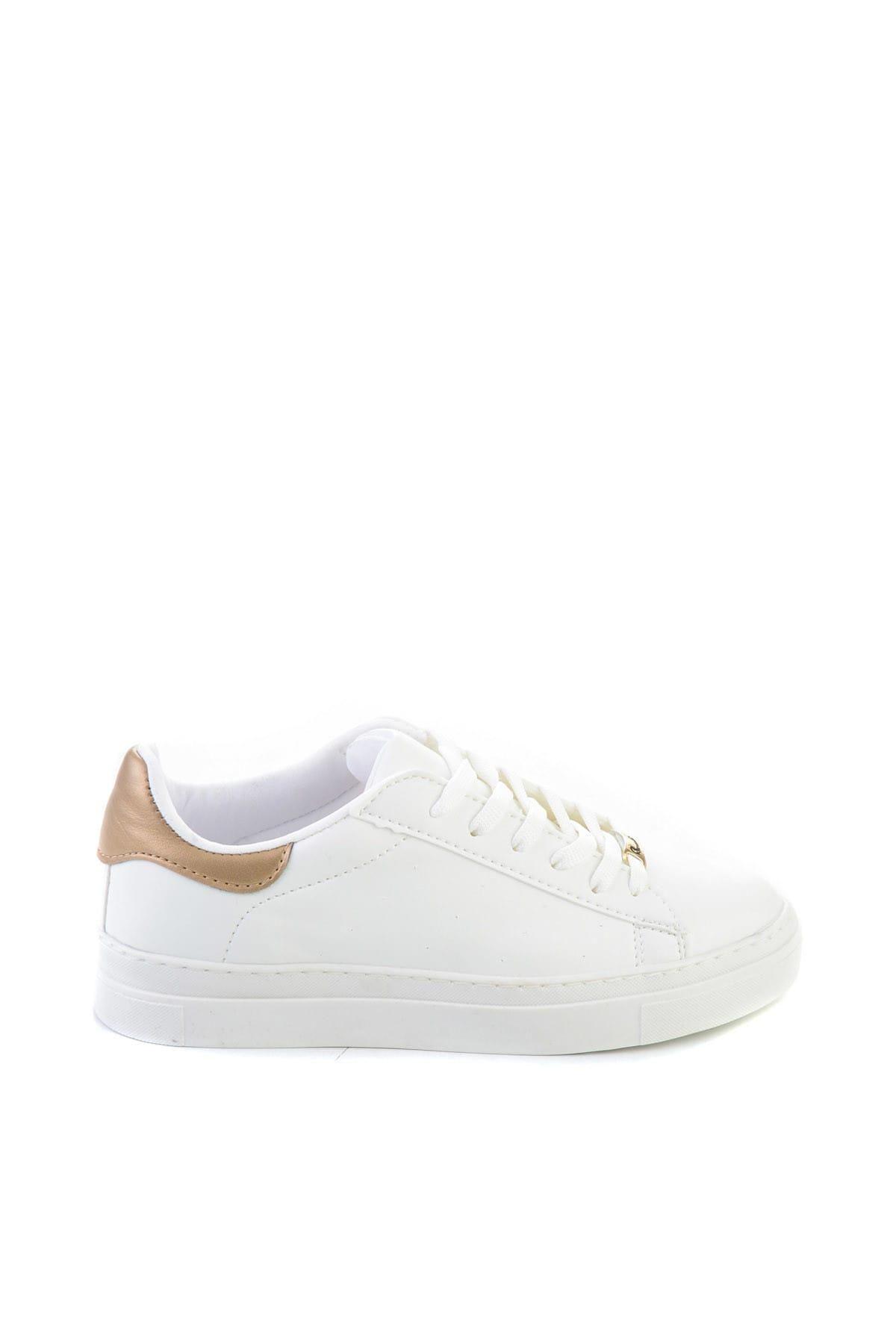 Bambi Beyaz Dore Kadınlar Ayakkabı H06060633