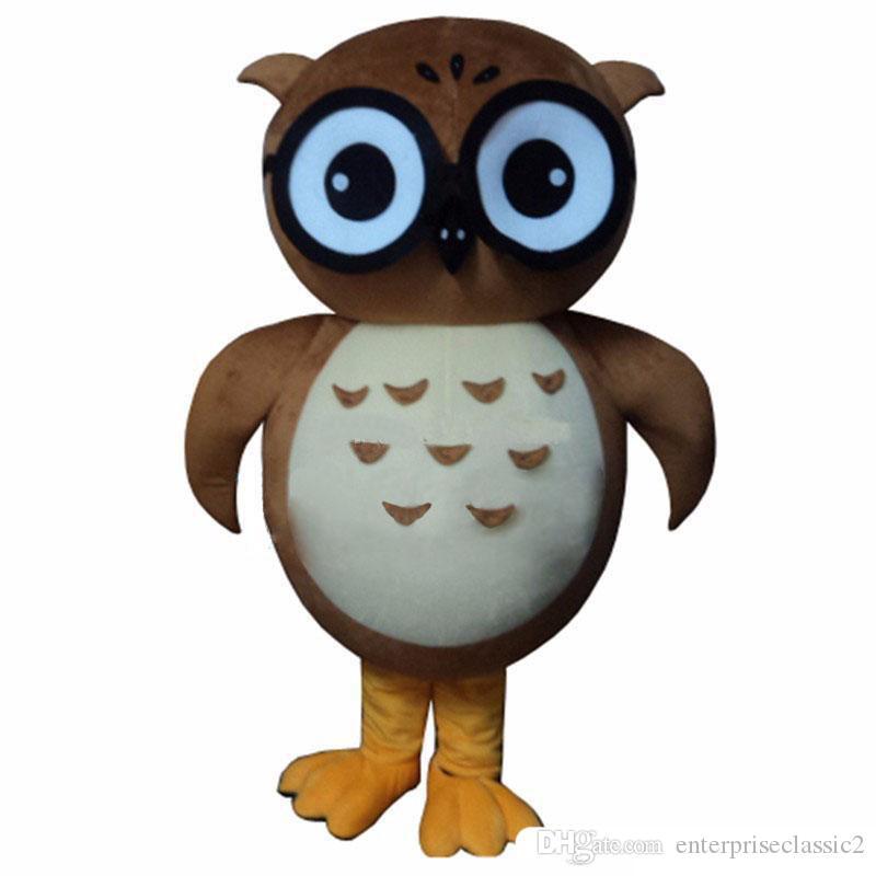 2018 High quality hot Owl Mascot Costume Cartoon Fancy Dress Suit Mascot Costume Free Shipping Adult