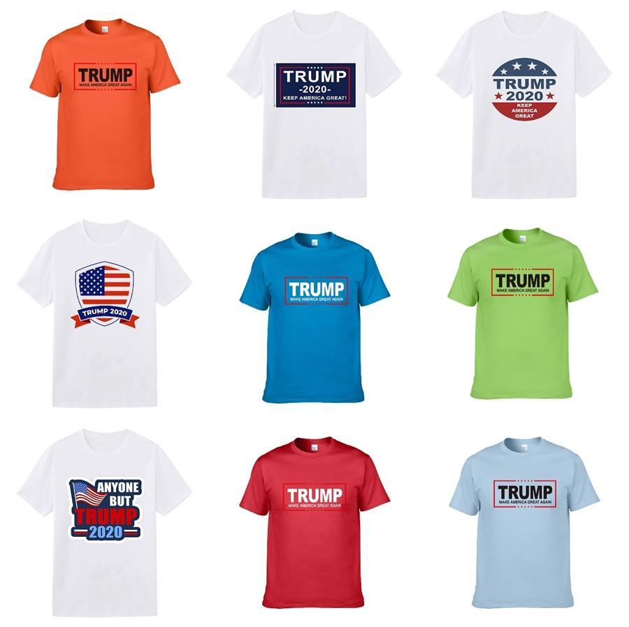 2020 New Fashion Designer Kleidung Europa Italien Zusammenarbeit Rom Special Edition Trump T-Shirt Männer Frauen beiläufige Baumwolle Trump T-Shirt Top