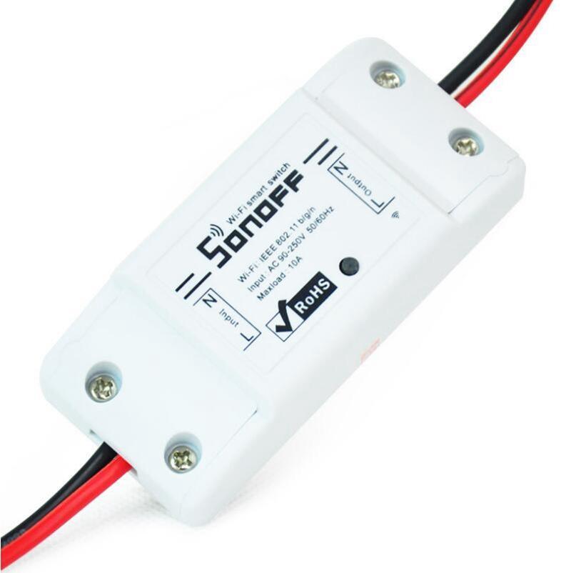 Sonoff Básico Wi-Fi Switch Inteligente Módulo DIY remoto sem fio Domotica Switches Wifi Luz Início controlador via DHL transporte livre