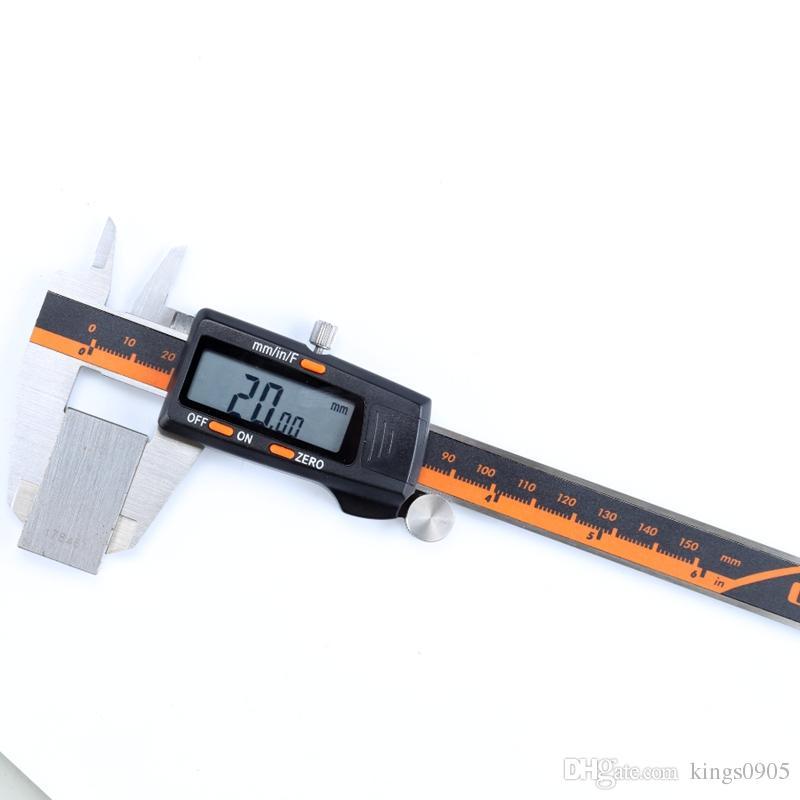 150MM 6/'/' Fractions LCD Digital Electronic Vernier Caliper Gauge Micrometer Tool