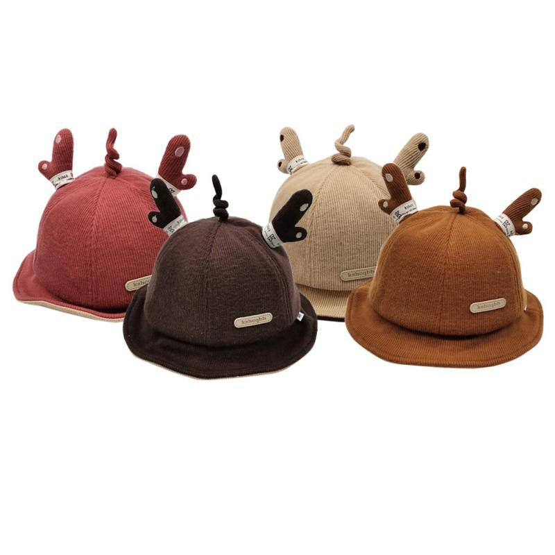 No.5 Baby Hat New Casual Fashion Baby Cap Kids Toddler Cute Cartoon Antlers Bucket Hat Children's Gifts/