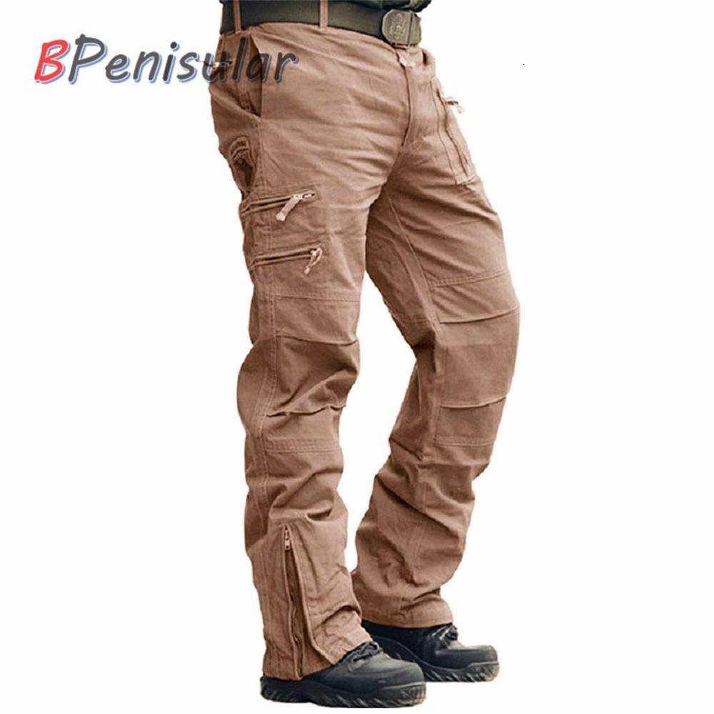 Tattici pantaloni 101 Airborne Pantaloni Khaki Paintball Plus Size cotone Tasche militare dell'esercito camuffamento Cargo Pant per gli uomini CJ191201
