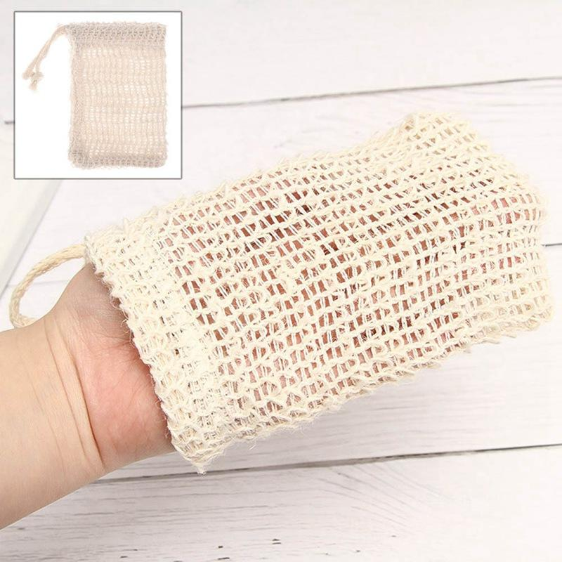 Soap Blister Mesh Double-Layer-Soap Net Schäumen Net Easy Bubble Mesh-Tasche Soap Sack Saver Pouch Drawstring Holder