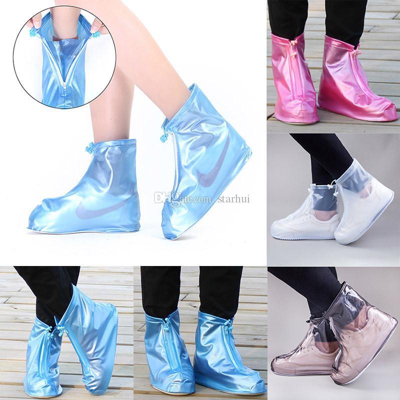 남성과 여성의 방수 신발 커버 홈 방수 신발 커버 장화 미끄럼 방지 짙어지는 장화 커버 DHL WX9-1772