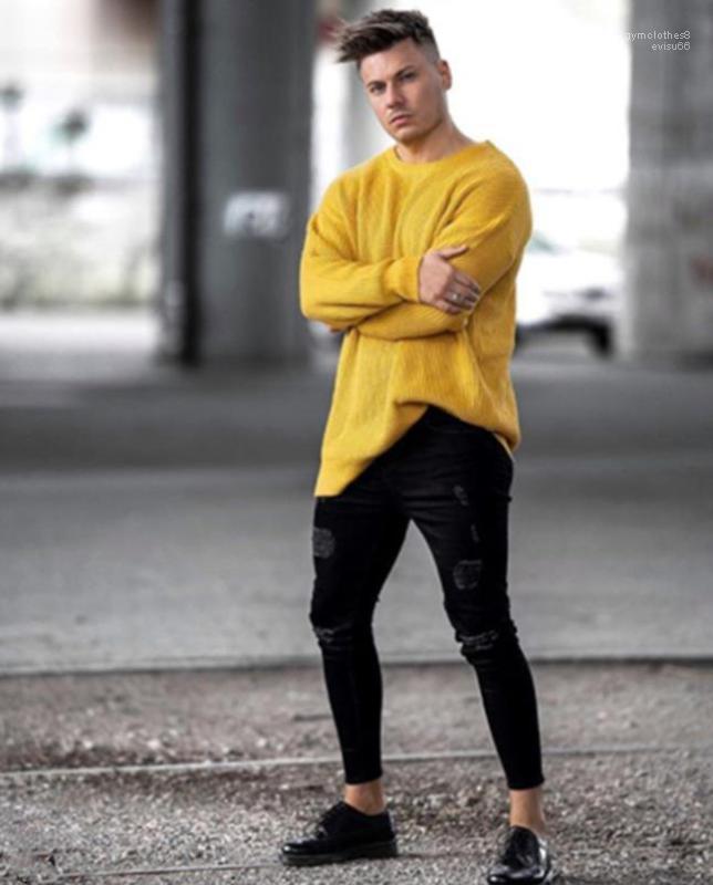 Брюки Длинные брюки Одежда Черные Дыры Hiphop Джинсы мужские Pantalones Карандаш