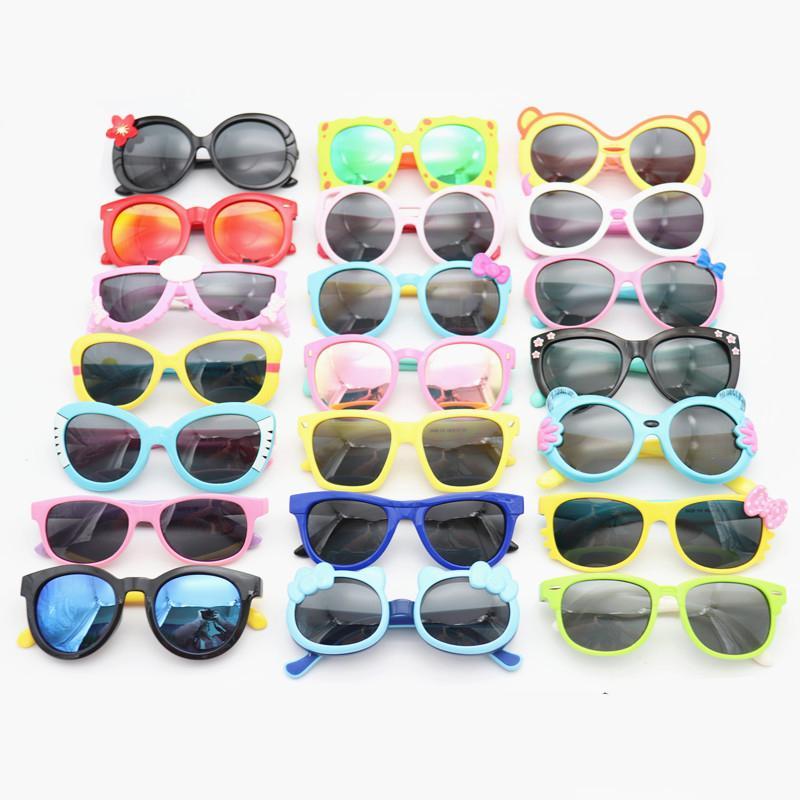 Desenhos animados moda crianças óculos de sol UV400 meninos polarizados meninas sol óculos