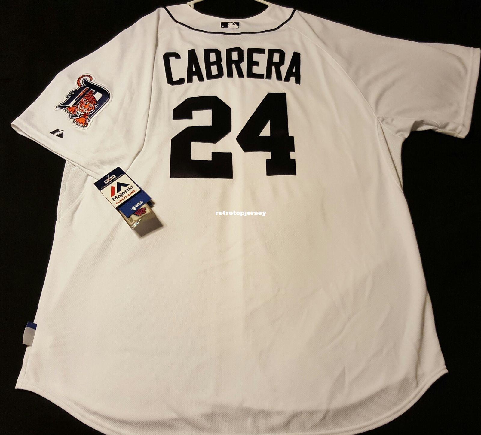 Cheap Majestic DETROIT # 24 HOME MIGUEL CABRERA, BASE FREDDO Maglia uomo cucita all'ingrosso grande e alta TAGLIA XS-6XL maglie da baseball