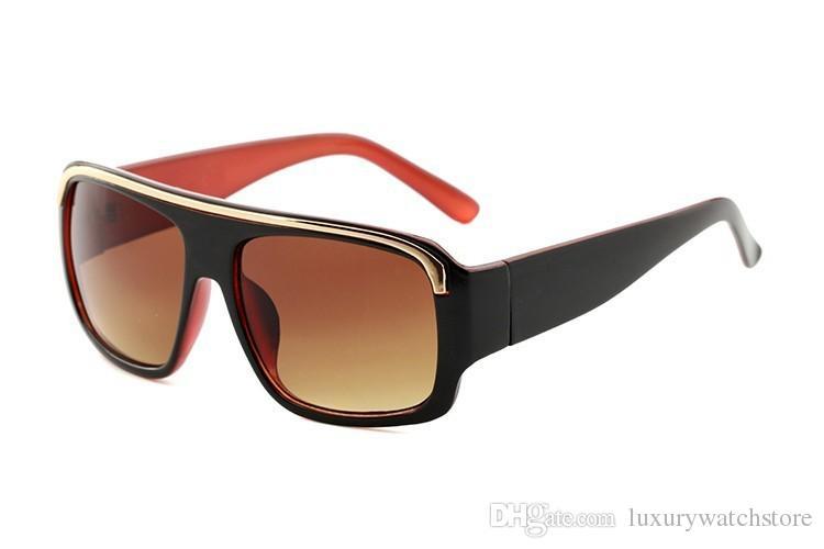 Livraison gratuite mode luxe preuve de lunettes de soleil rétro vintage hommes marque designer brillant cadre en or laser logo femmes top qualité 290 0392 5178