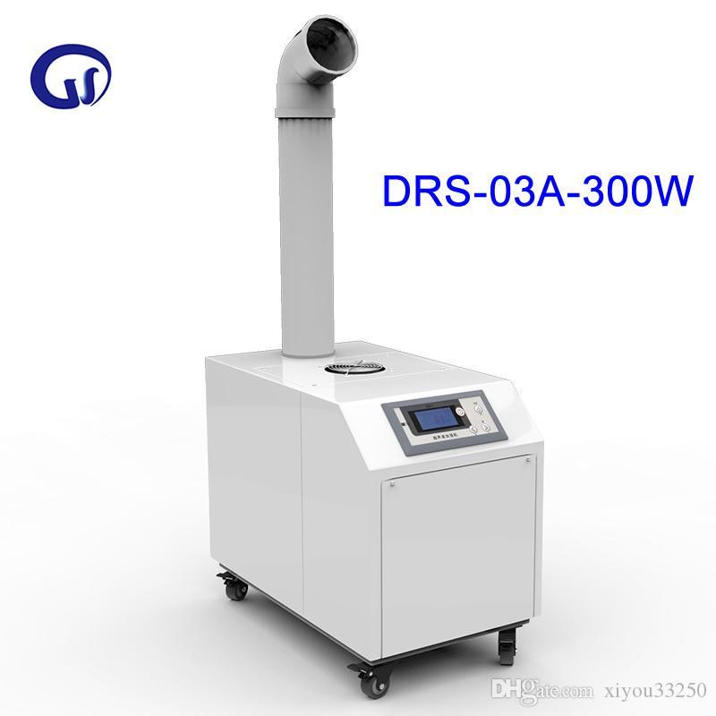 DRS-03A Humidificador de aire ultrasónico industrial Máquina de humidificación de silenciamiento por atomización inteligente Difusor comercial de control de computadora 300 W 3 KG / H