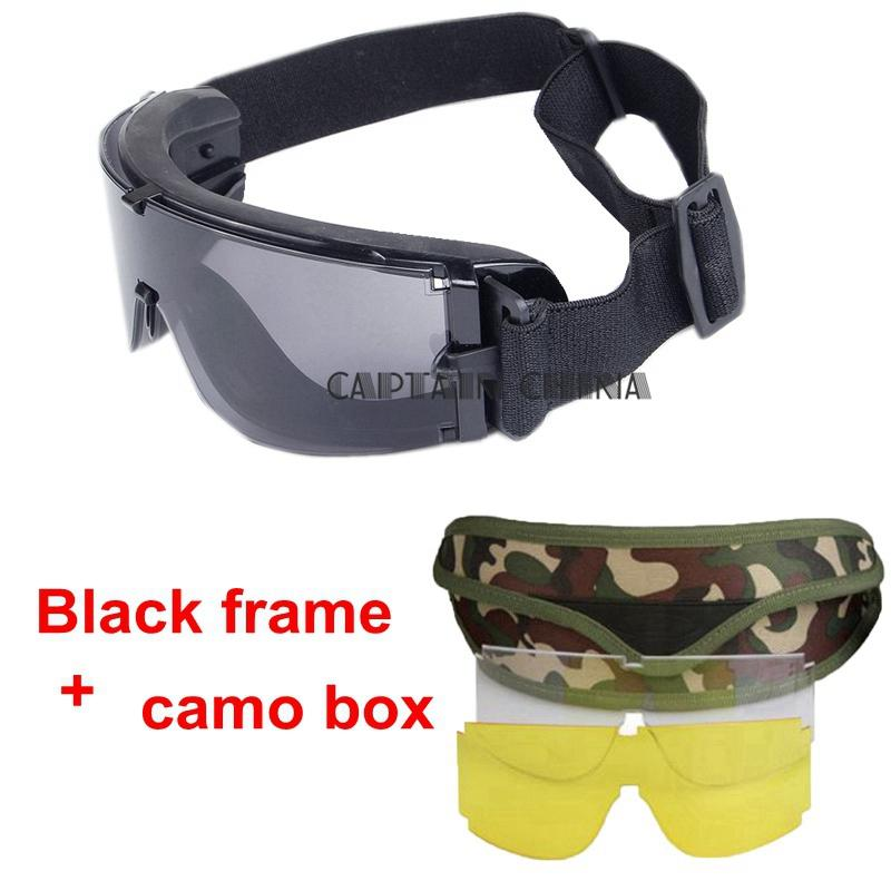 X800 Óculos tácticos Homens Óculos à caça de Paintball CS Army Desporto Ao Ar Livre deserto à prova de Vento Óculos tácticos