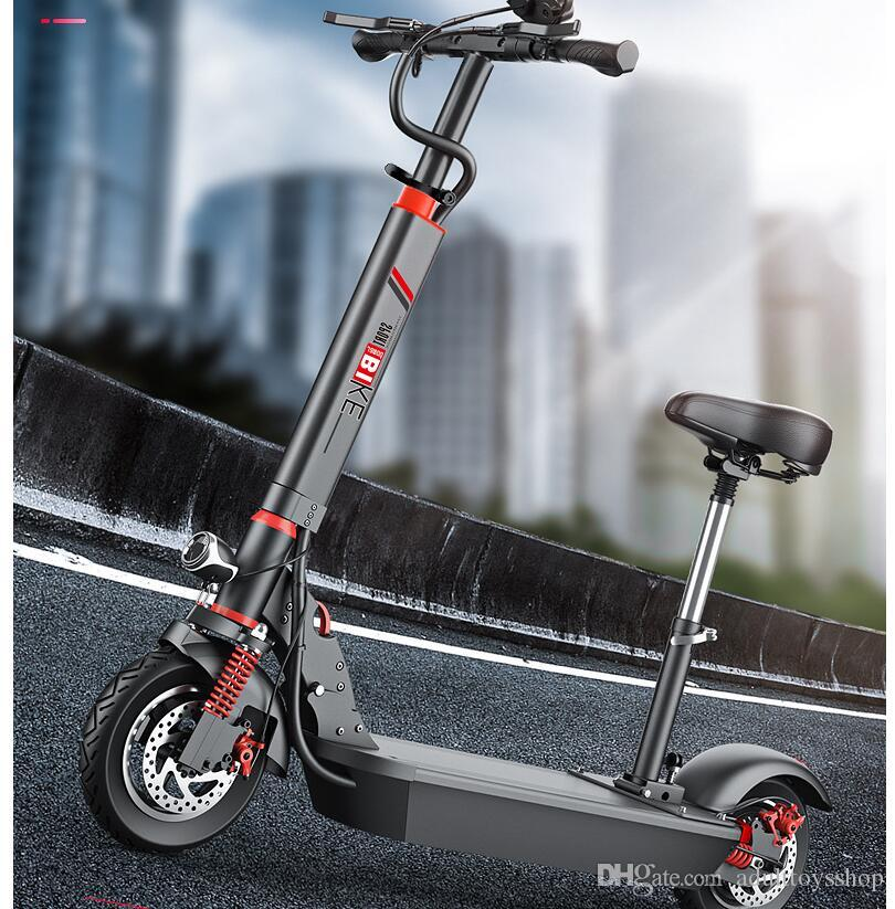 10 inch electric scooter adult portable two-wheeled scooter small mini lithium battery generation driving folding electric car