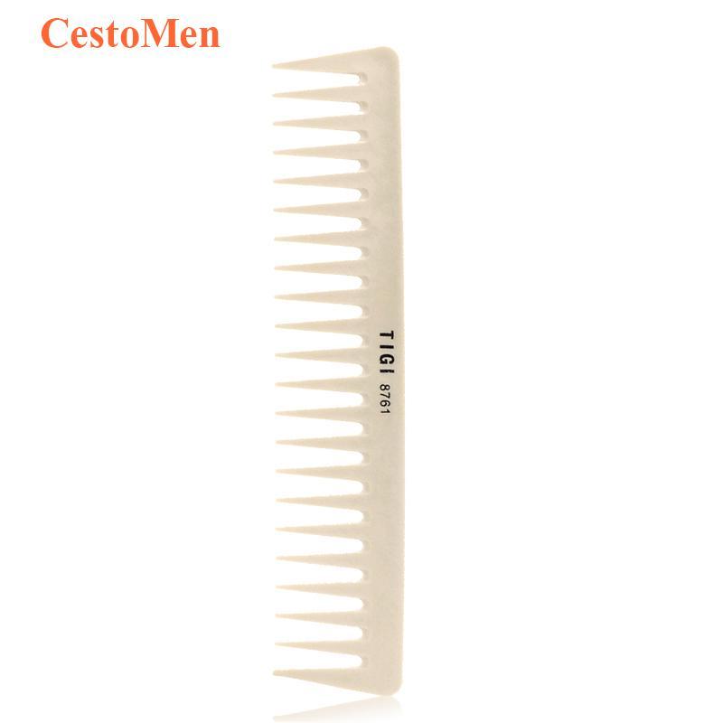 Taglio di plastica Taglio CestoMen parrucchiere barbiere pettine denti larghi Parrucchiere Hair styling pettine resina materiale antistatico