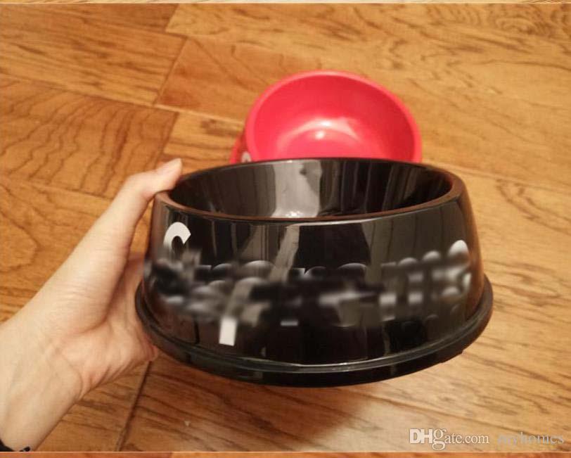 Nouvelle S Lettre Chien Chat d'alimentation bol d'eau Plat Feeder chiot en peluche de pique-nique Voyage ronde en plastique Feeders Cat Dog Bowels Pet Supplies