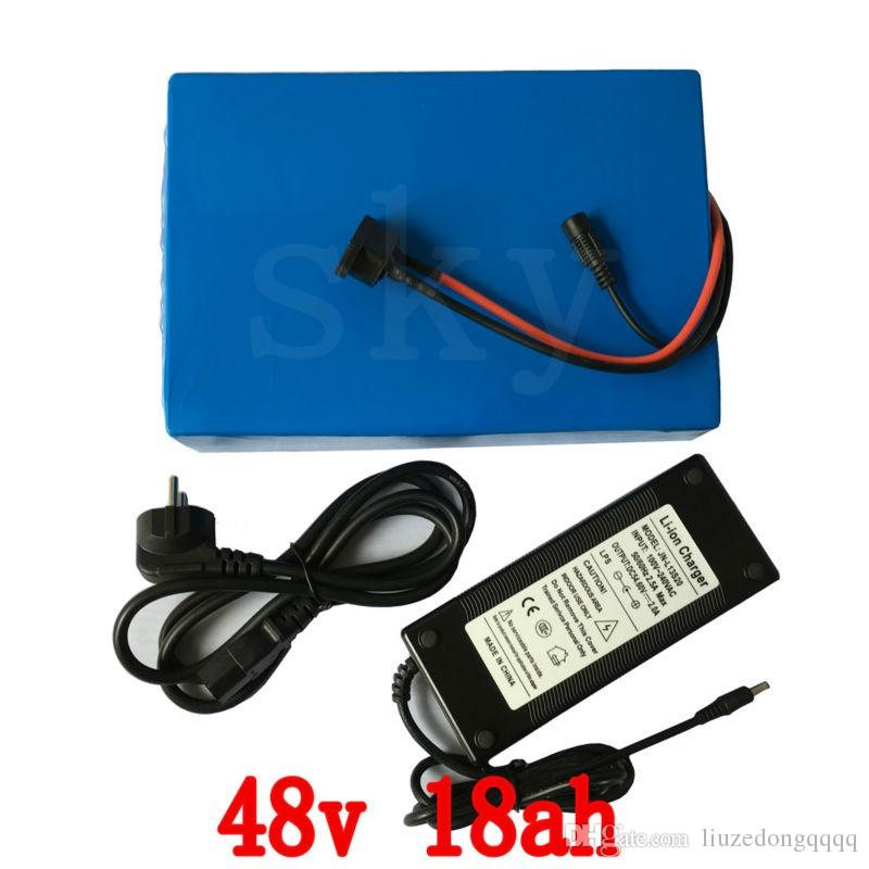 48v 1000 w batteria 48 v 18ah batteria della bicicletta elettrica 48 v 18ah batteria al litio con 30A BMS + 54.6 V 2A caricatore spedizione gratuita