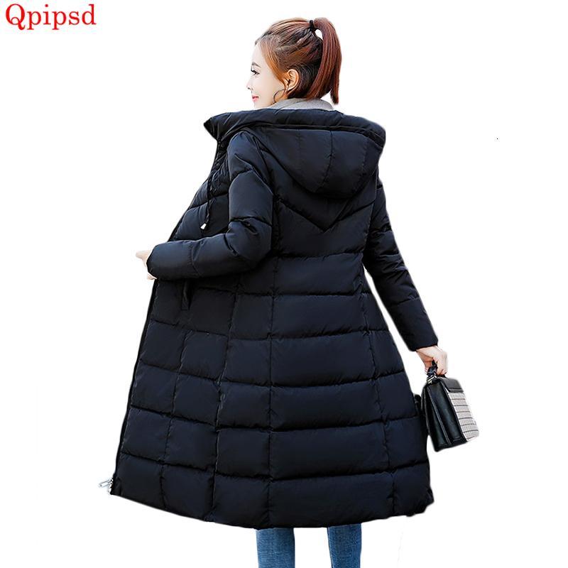Plus size 6XL Down jackets 2018 Fashion Women Winter Coat Long Slim Thicken Warm Jacket Down Cotton Padded Jacket Outwear Parkas T190829