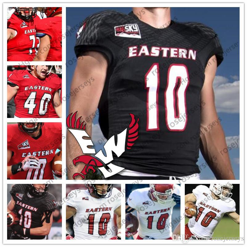 Individuelle Eastern Washington Eagles College Football Schwarz Rot Weiß 10 Cooper Kupp Männer Jugend Kind Frauen NCAA EWU Jersey 4XL