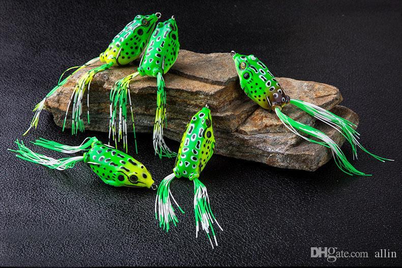 Новое прибытие Soft Приманки рыболовную приманку Bait снасти 5.5cm / 13г Лягушка Приманки Мягкие резиновые лягушки приманки рыбалки приманки снасти
