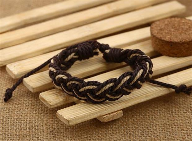 Bohême Coloré Tresse Corde Bracelets Mode Hommes Femmes Amant Amitié Bracelets Réglable À La Main Fine Bijoux Cadeaux D'anniversaire K3452