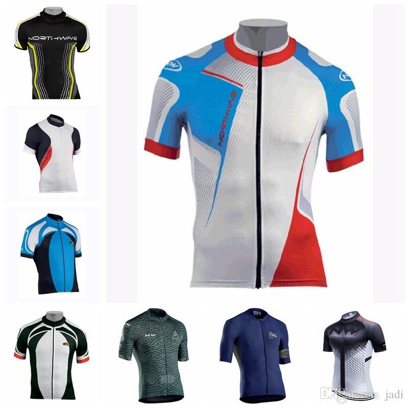 NW 2019 manches vêtements vélo cycle vélo maillot vélo courtes Tops Ropa Ciclismo Maillot rapide Vtt à sec Montagne chemises K092504