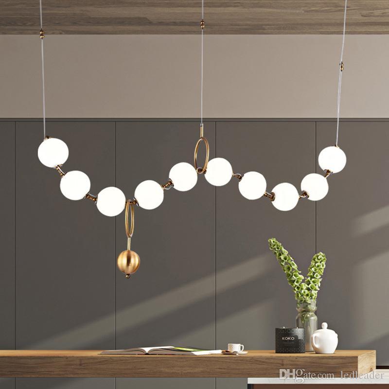 Роскошная простота жемчужное ожерелье лобби люстра стекло искусство LightsLiving Room модель выставочный зал личность пузырь лампы RW27