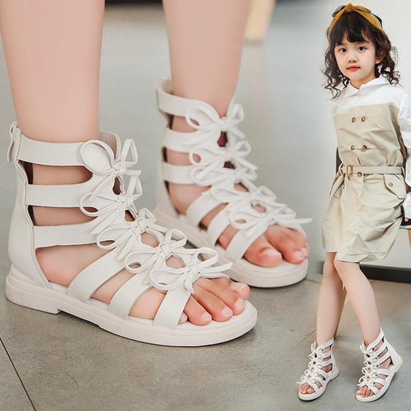 Fashon Girls Toddler High-top Summer Sandals Kids Roman Gladiator Beach Sandals