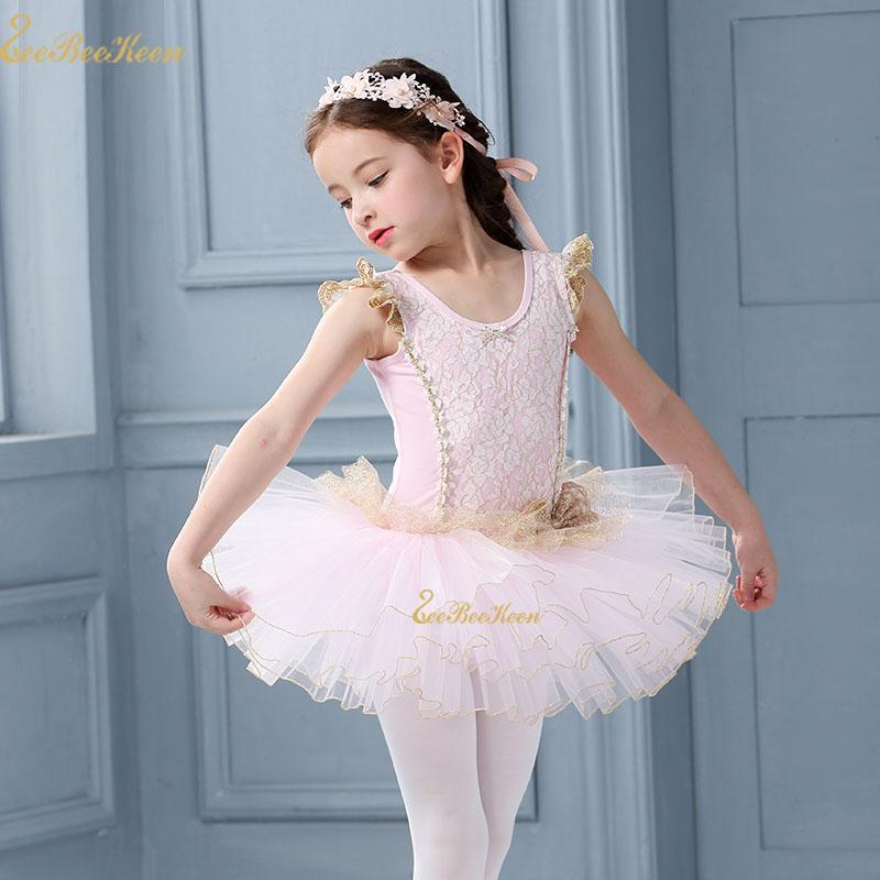 Pink Ballet Tutu leotard Dance Skirt Shoe Design Costume Outfit Ballerina Girls