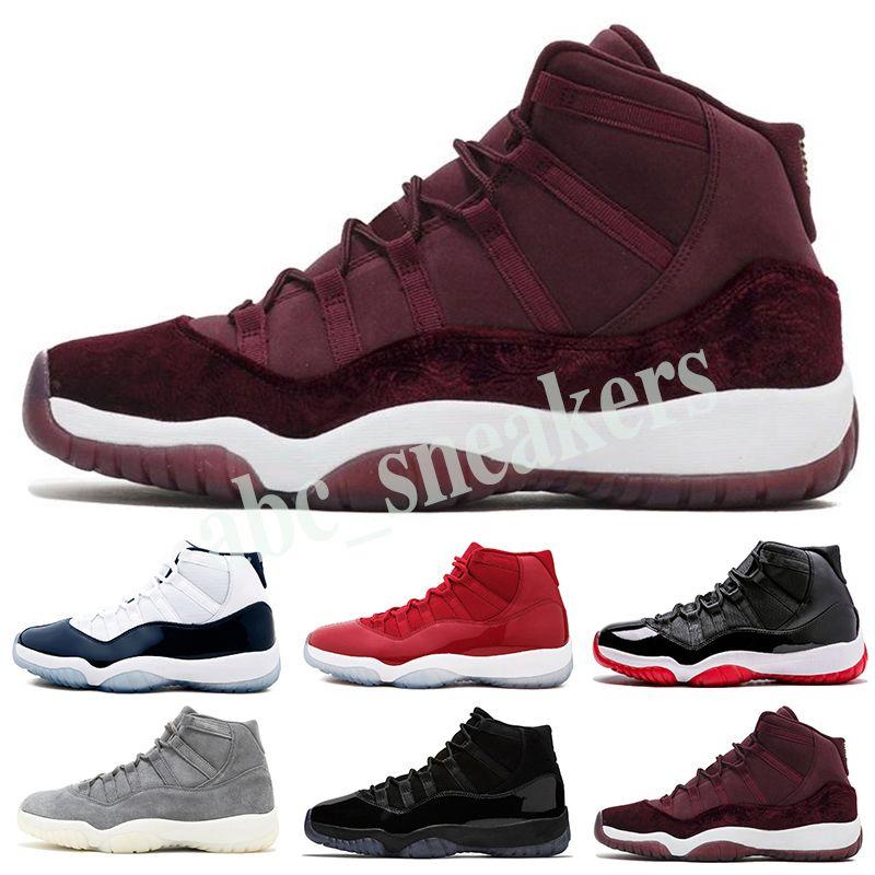 Nike Air Jordan 11 AJ11 Retro мужская баскетбол обувь Конкорд 45 шапочке и мантии легенда синий платиновый оттенок тренажерный зал Красный Си мужская спортивная обувь в03