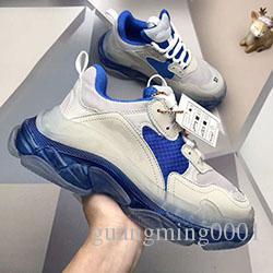 Мужская обувь Triple S 3.0 модельер Повседневная обувь роскошные туфли женская комбинация Азот подошва Хрустальное дно папа Повседневная обувь b291