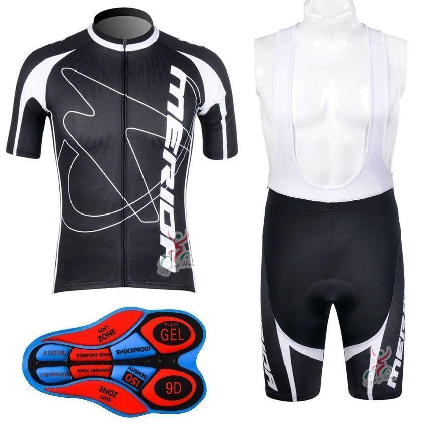 2020 메리다 자전거 저지 세트 2020 메리다 사이클 의류 여름 짧은 소매주기 뉴저지 프로 팀 사이클링 턱받이 반바지 Ciclismo Maillo의 D0716