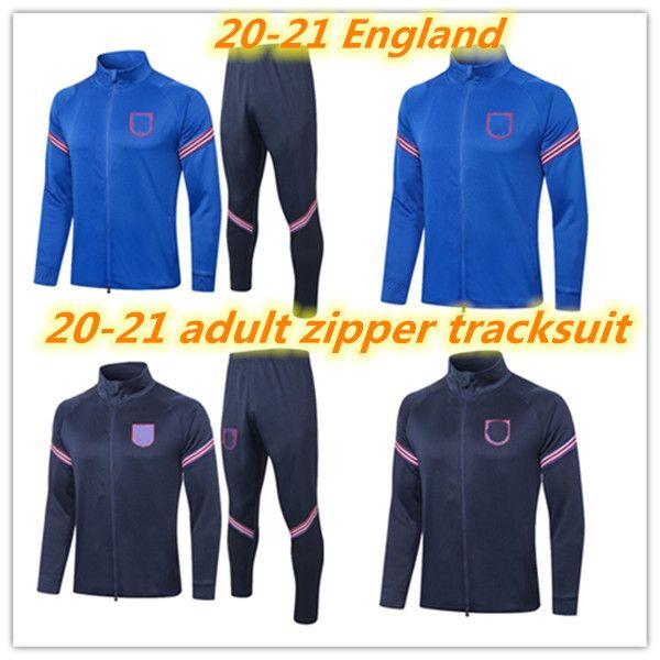 20 21 Survetement الكبار تراكسويت 2020 2021 إنجلترا كان راشفورد الاسترليني ويلشيري لكرة القدم مجموعات كاملة سستة رياضية كرة القدم سترة